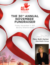 Support Ad Relief at the 30th Annual November Fundraiser!